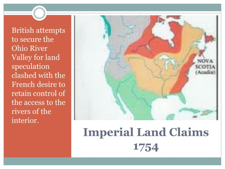 Imperial land claims 1754