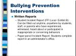 bullying prevention interventions
