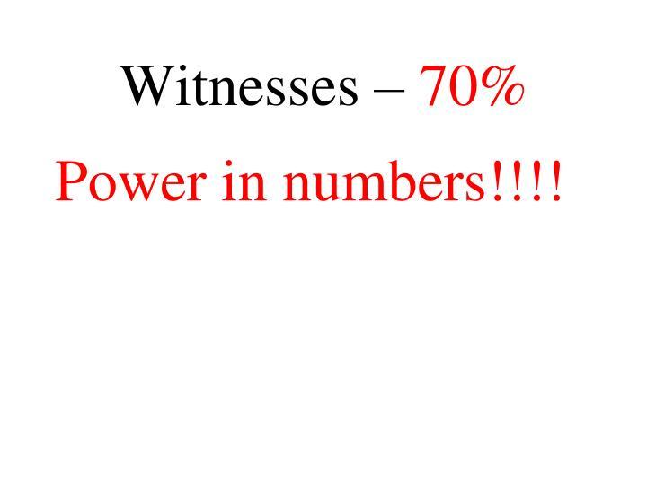 Witnesses –
