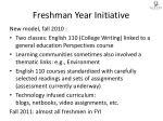 freshman year initiative
