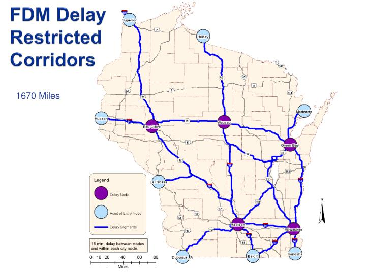 FDM Delay Restricted Corridors