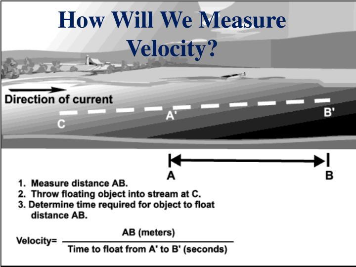 How Will We Measure Velocity?