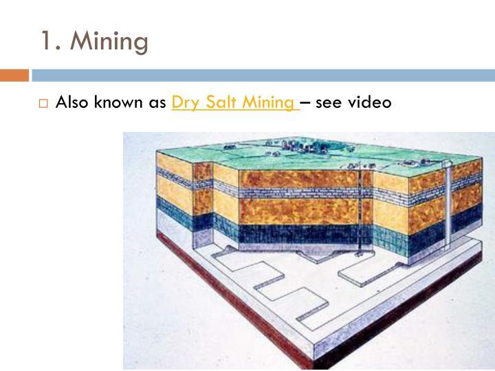 1. Mining
