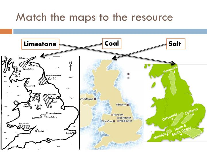 Match the maps to the resource