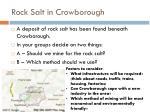 rock salt in crowborough