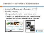 demcon advanced mechatronics