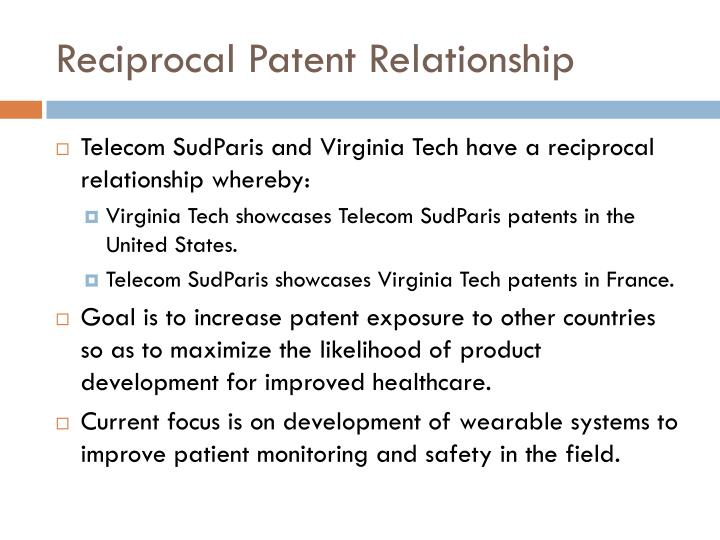 Reciprocal Patent Relationship