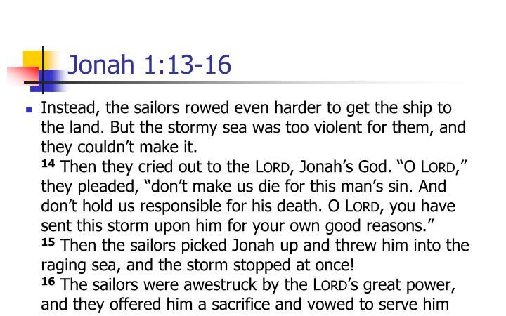 Jonah 1:13-16