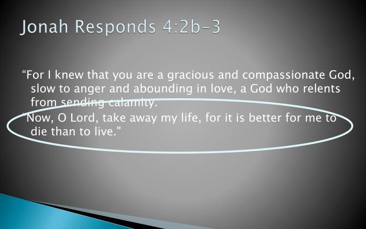 Jonah Responds 4:2b-3