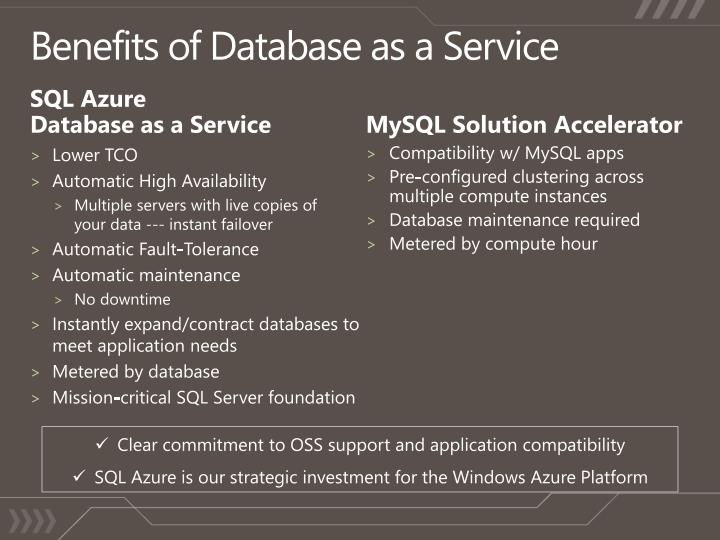 Benefits of Database as a Service