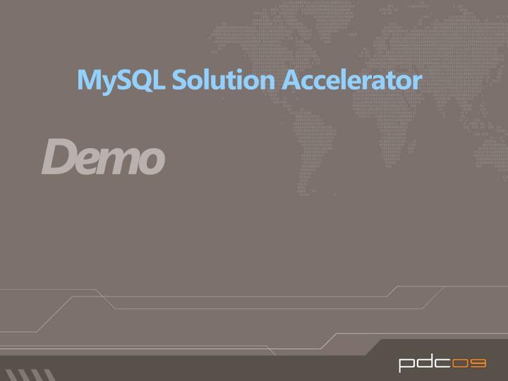 MySQL Solution Accelerator