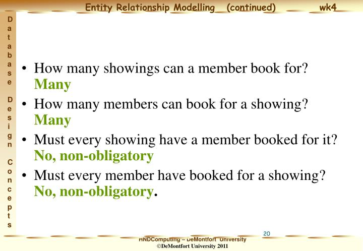 How many showings can a member book for?