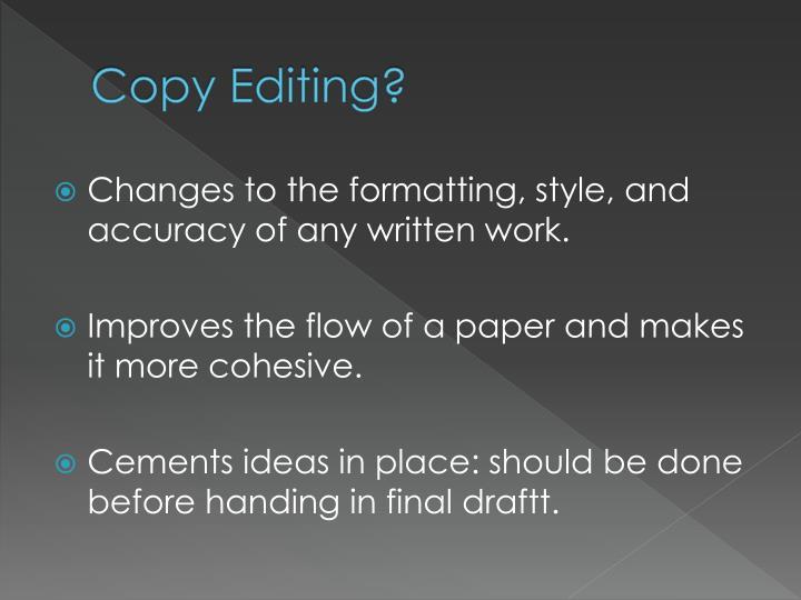 Copy Editing?