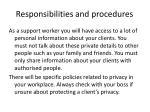 responsibilities and procedures