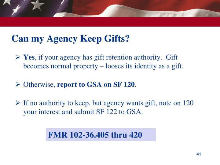 Can my Agency Keep Gifts?
