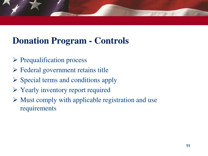 Donation Program - Controls