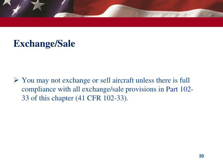 Exchange/Sale