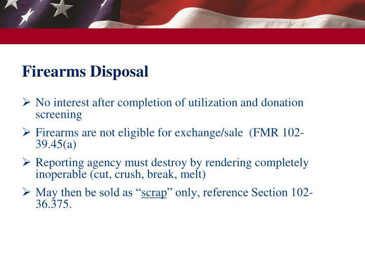 Firearms Disposal