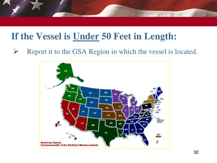 Report it to the GSA Region in which the vessel is located.