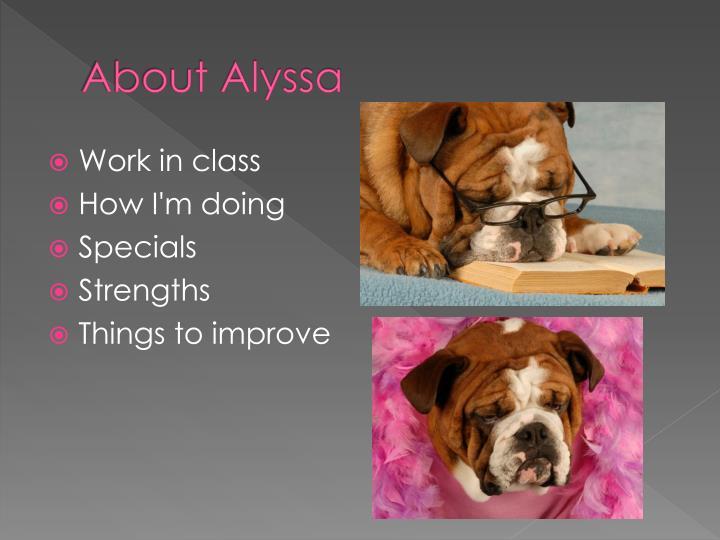 About Alyssa
