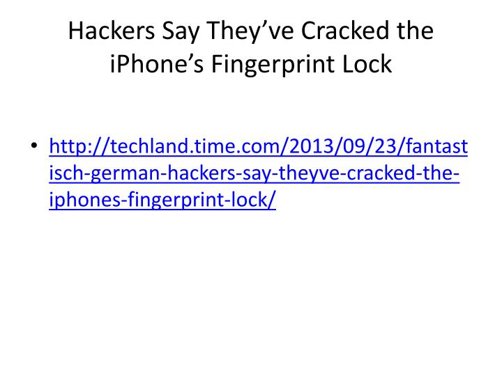 Hackers Say They've Cracked the