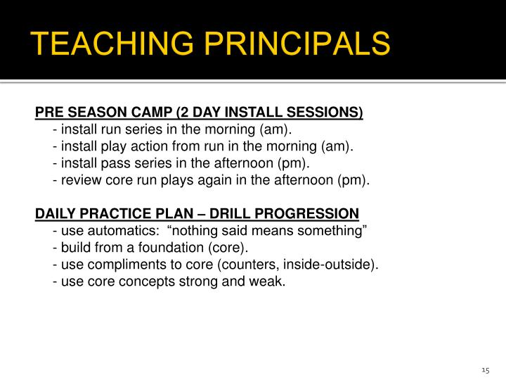 TEACHING PRINCIPALS