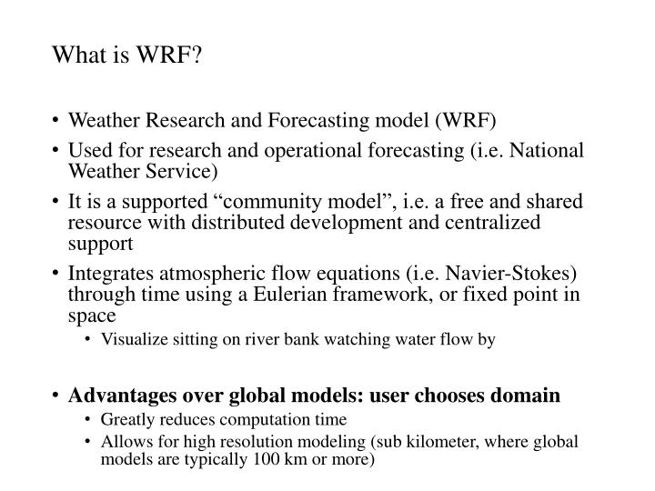 What is WRF?