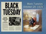 black tuesday october 29 1929