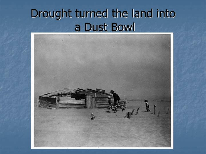 Drought turned the land into