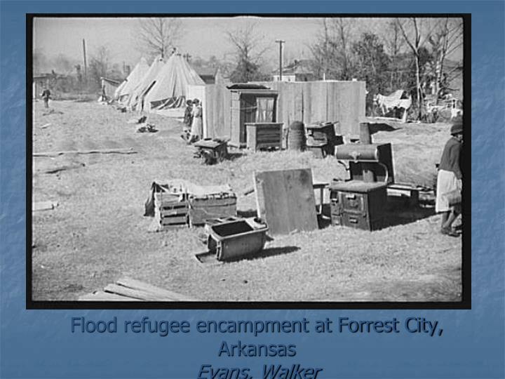 Flood refugee encampment at Forrest City, Arkansas