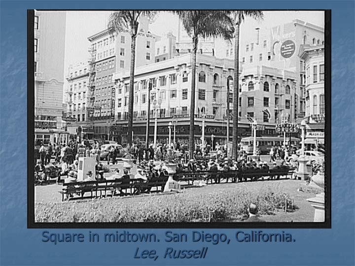 Square in midtown. San Diego, California.