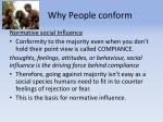 why people conform