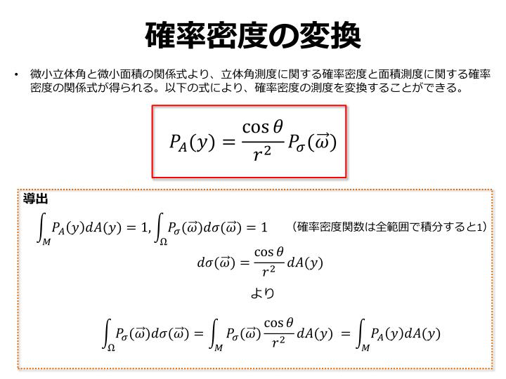 確率密度の変換