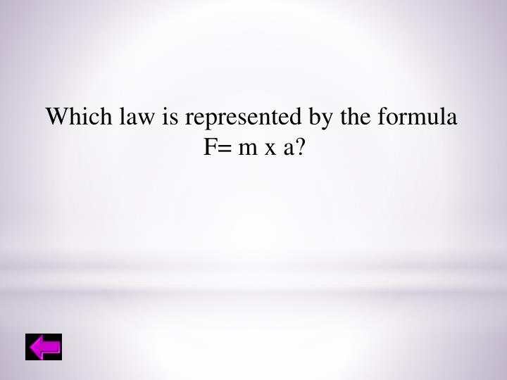 Which law is represented by the formula