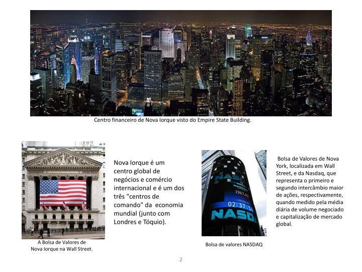 Centro financeiro de Nova Iorque visto do Empire