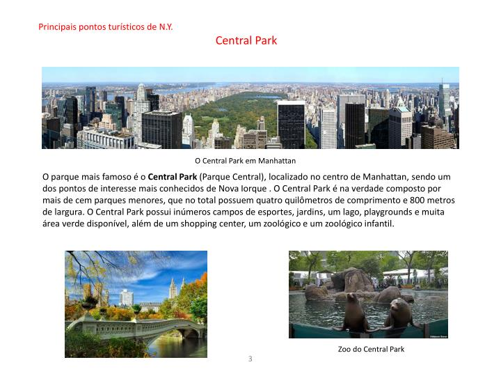 Principais pontos turísticos de N.Y.