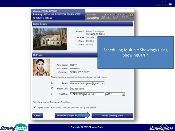 Scheduling Multiple Showings Using ShowingCart™