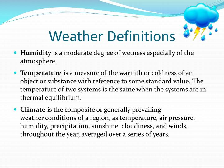 Weather Definitions
