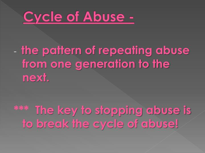 Cycle of Abuse -