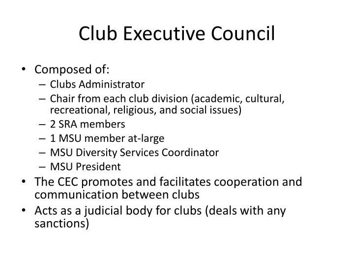 Club Executive Council