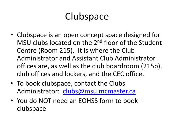 Clubspace
