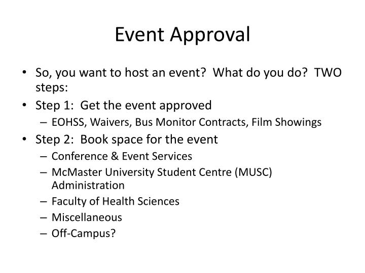 Event Approval
