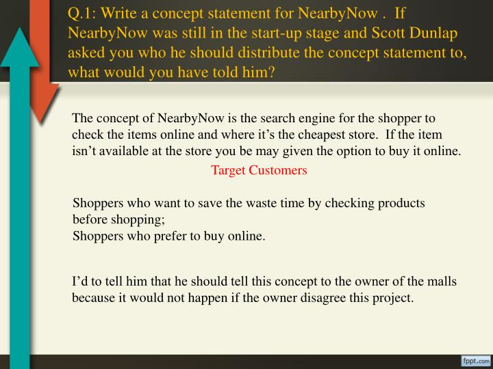 Q.1: Write a concept statement for