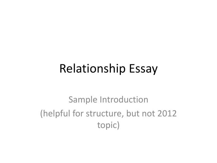 Problems In A Relationship Essay