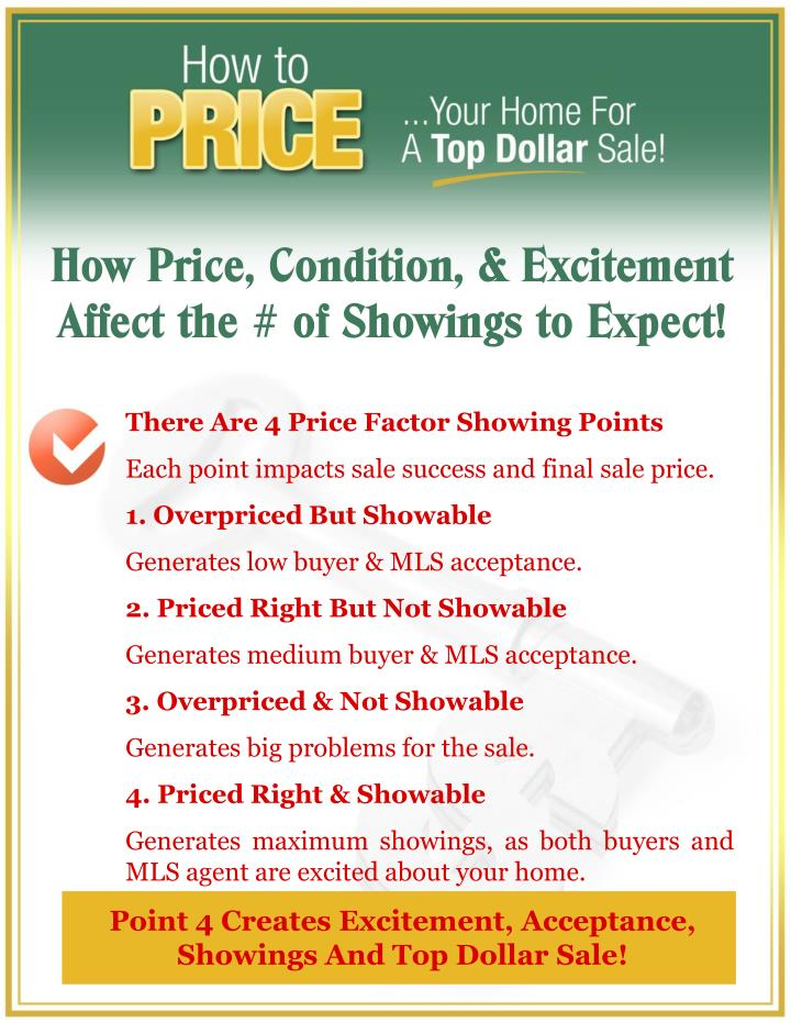 How Price, Condition, & Excitement Affect the # of Showings to Expect!
