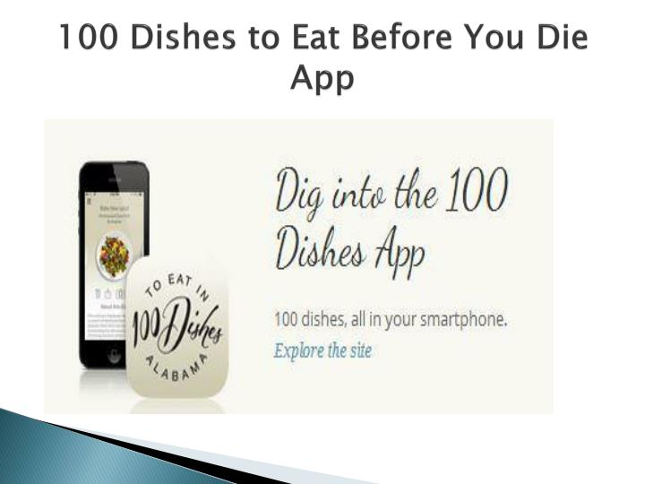 100 Dishes to Eat