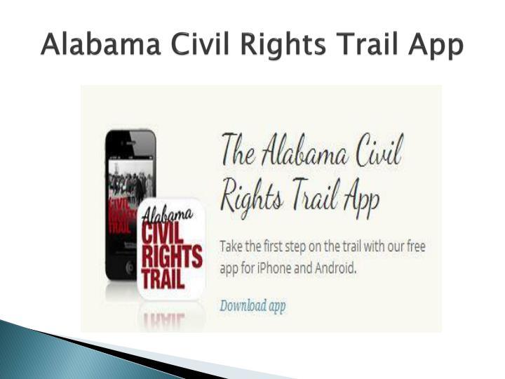 Alabama Civil Rights Trail App