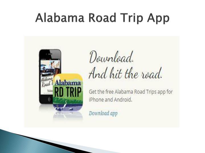 Alabama Road Trip App