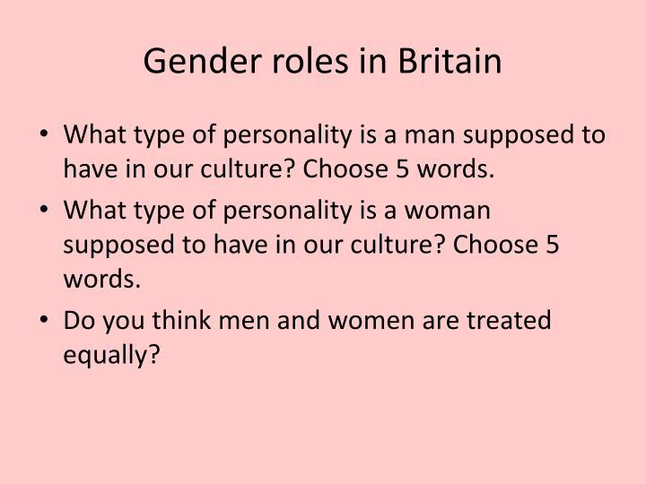 Gender roles in Britain