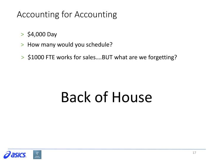 Accounting for Accounting